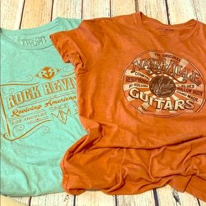 2 Tshirts retro Rock Republic and Lucky L
